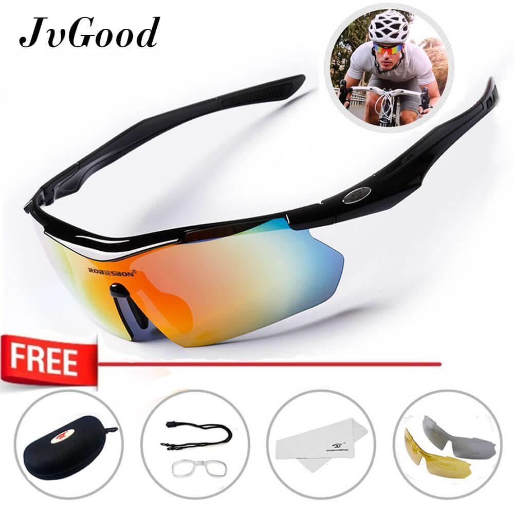 Jvgood Kacamata Olahraga Outdoor Sepeda Motor Outdoor Bike Sport Sunglasses Dengan 3 Lensa By Jvgood.
