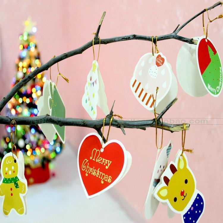 Christmas Tree Pendant Card Christmas Card Xu Yuan Ka Christmas Tree Decorations By Taobao Collection.