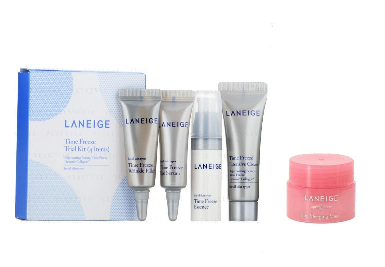 Buy Sell Cheapest Laneige Time Freeze Best Quality Product Deals Original Korea Trial Kit Sample Basic Care Moisture 2 Items 4 With Special Lip Sleeping Mask