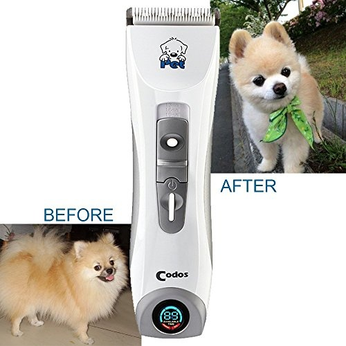 Codos Professional Rechargeable Cordless Pet Dog Grooming Cipper Kits, Hair Trimmers, Electric Shaver With LCD Display Screen