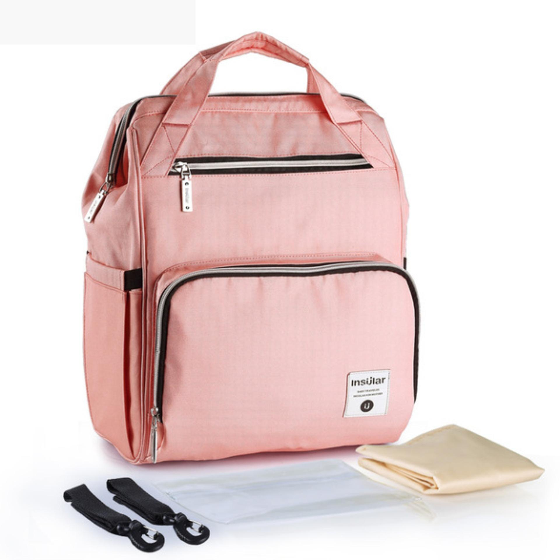 Insular 2018 Fashion Diaper Tote Bag Diaper Backpack Pink Coupon Code