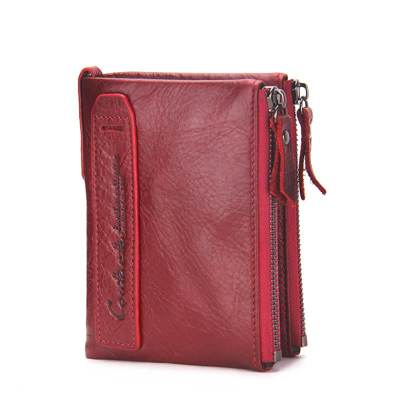 2482ede67f CONTACT'S HOT Genuine Crazy Horse Cowhide Leather Men Wallet Short Coin Purse  Small Vintage Wallets Brand
