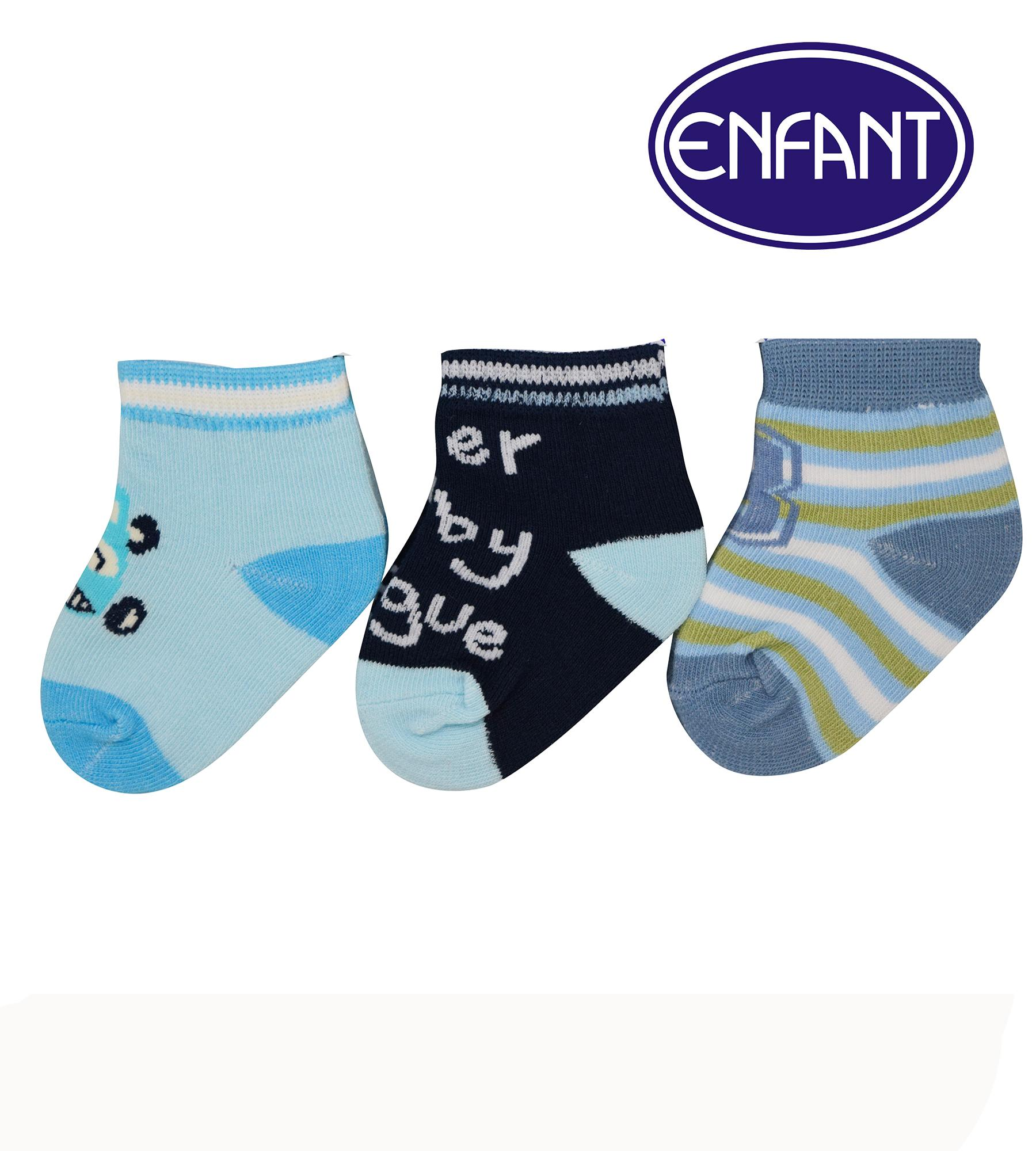 The cheapest price Enfant Baby Boy Socks Set of 3 blue black and