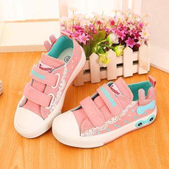 Beli sekarang 2018 musim semi dan musim gugur model baru Warrior Sepatu  anak Gaya Korea anak prempuan sepatu sneaker sepatu lapisan tunggal  anak-anak Sepatu ... 1a719e3312