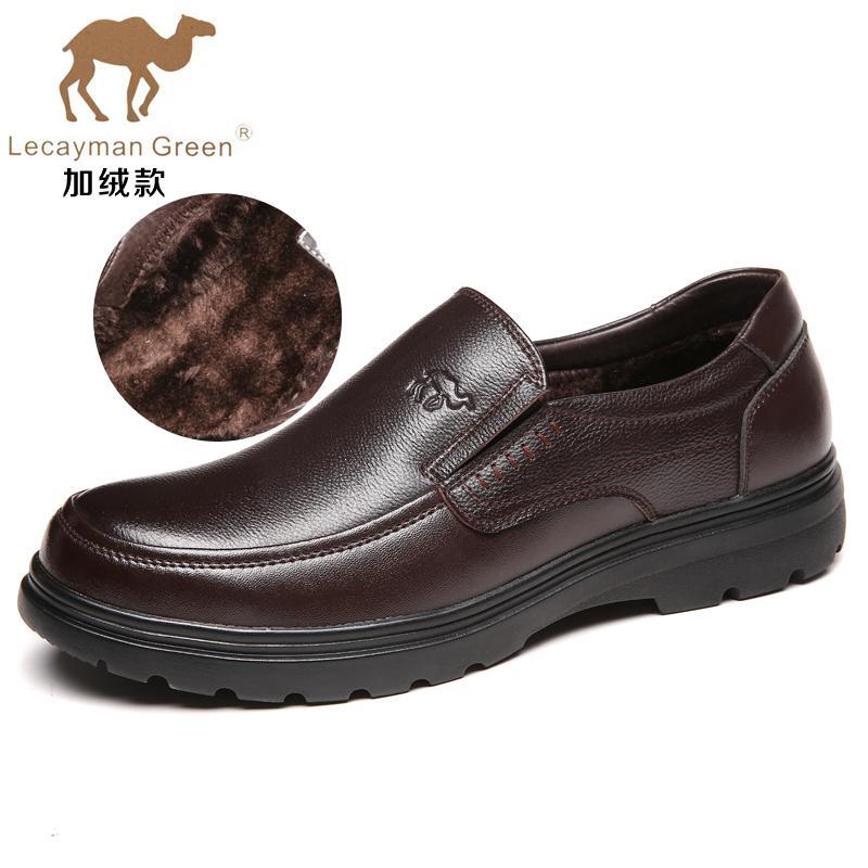 Ribuan Sepatu Kulit Casual Musim Gugur Sepatu Bapak-bapak Nyaman Kulit Asli