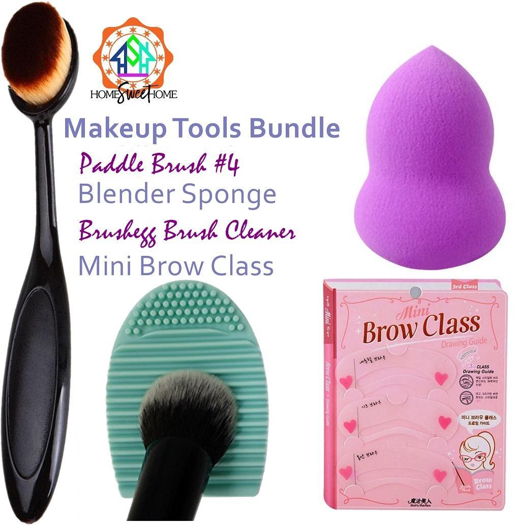 Make Up Tools Set: brushegg cleaner - anastasia brush - blender sponge - mini brow class Philippines