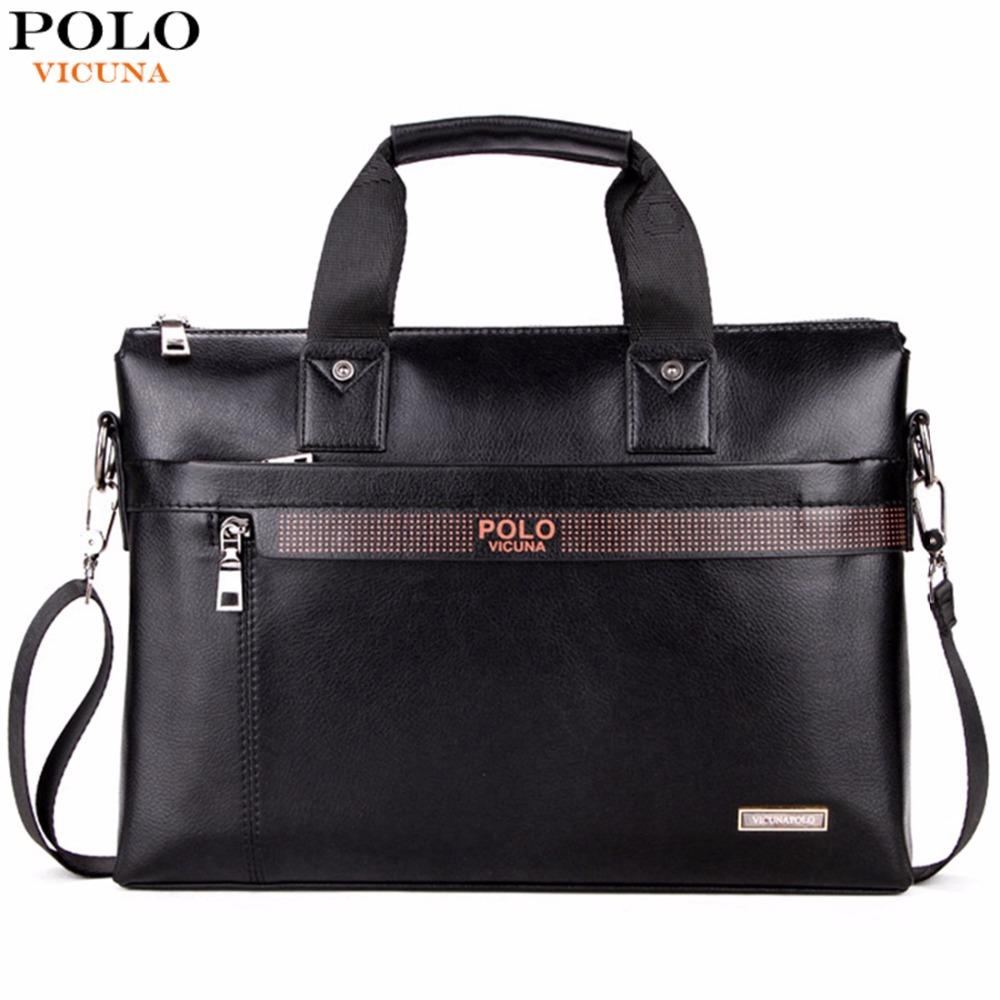 97c0815d6a VICUNA POLO Top Sell Fashion Simple Dot Famous Brand Business Men Briefcase  Bag Leather Laptop Bag Casual Man Bag Shoulder bags(large) Philippines