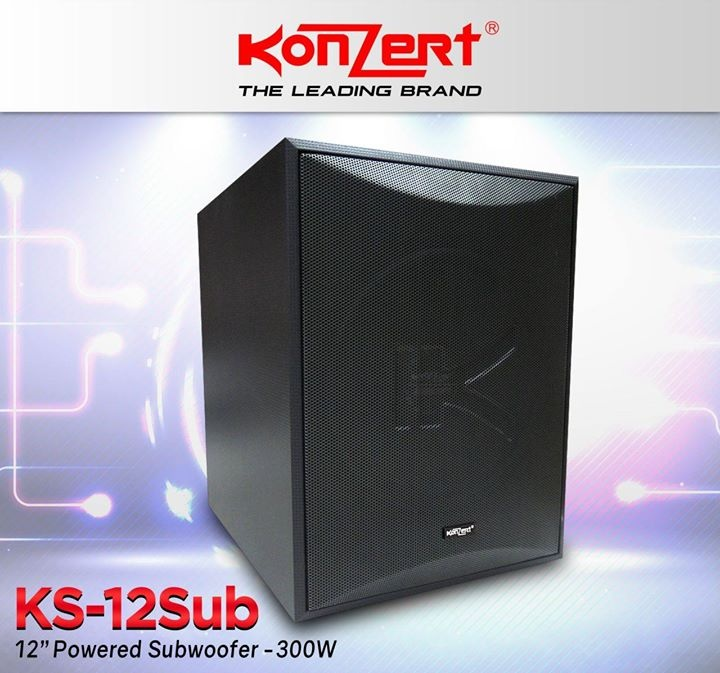 "Konzert KS-12SUB 12"" 300W Active / Powered Subwoofer"