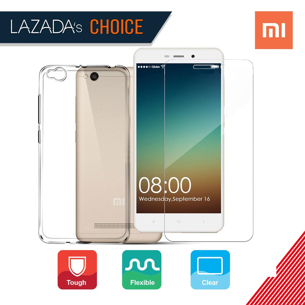 Tylex Tempered Glass 2 Pcs with FREE Jelly Case For Xiaomi Redmi 4A (Clear)
