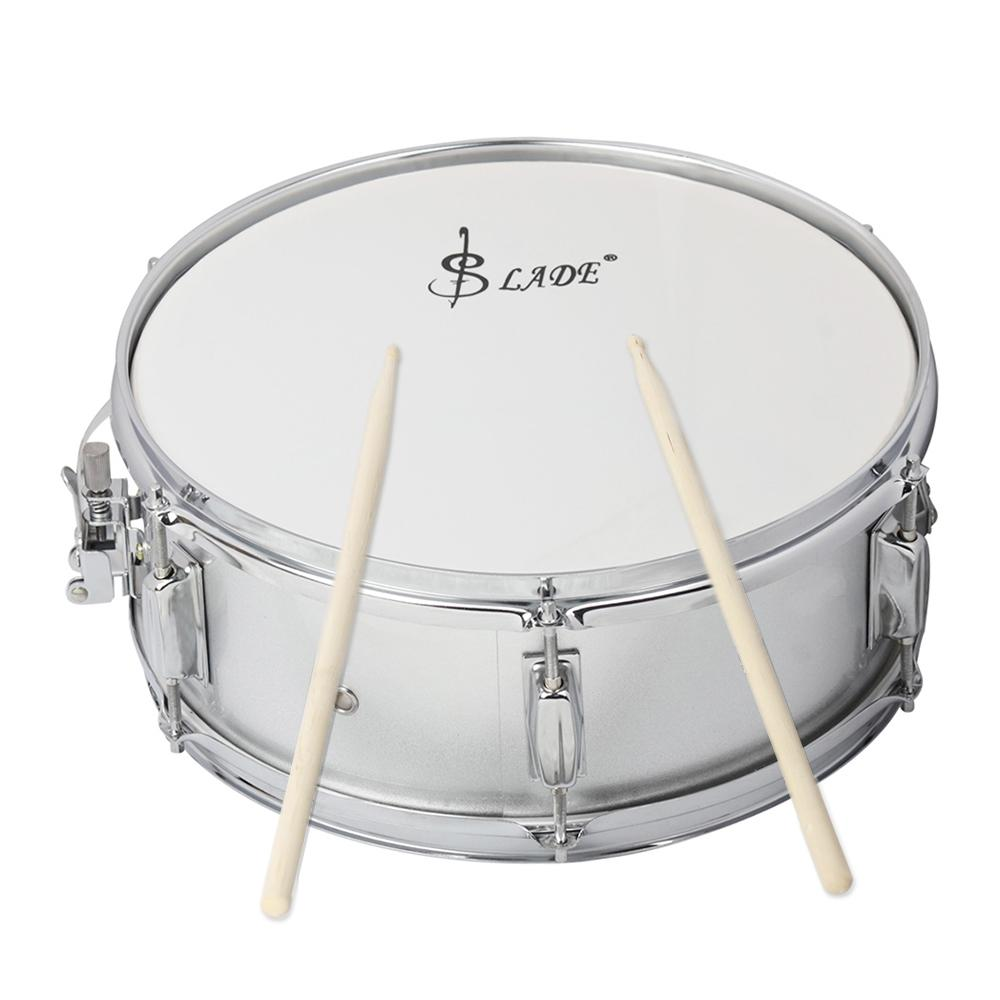 Professional Snare Drum Head 14 Inch with Drumstick Drum Key Strap for Student Band