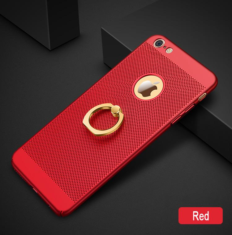 Powerlong 360 Degree Finger Ring Holder / Stand Heat Dissipation phone Case Cover For Apple iPhone 5 / 5s