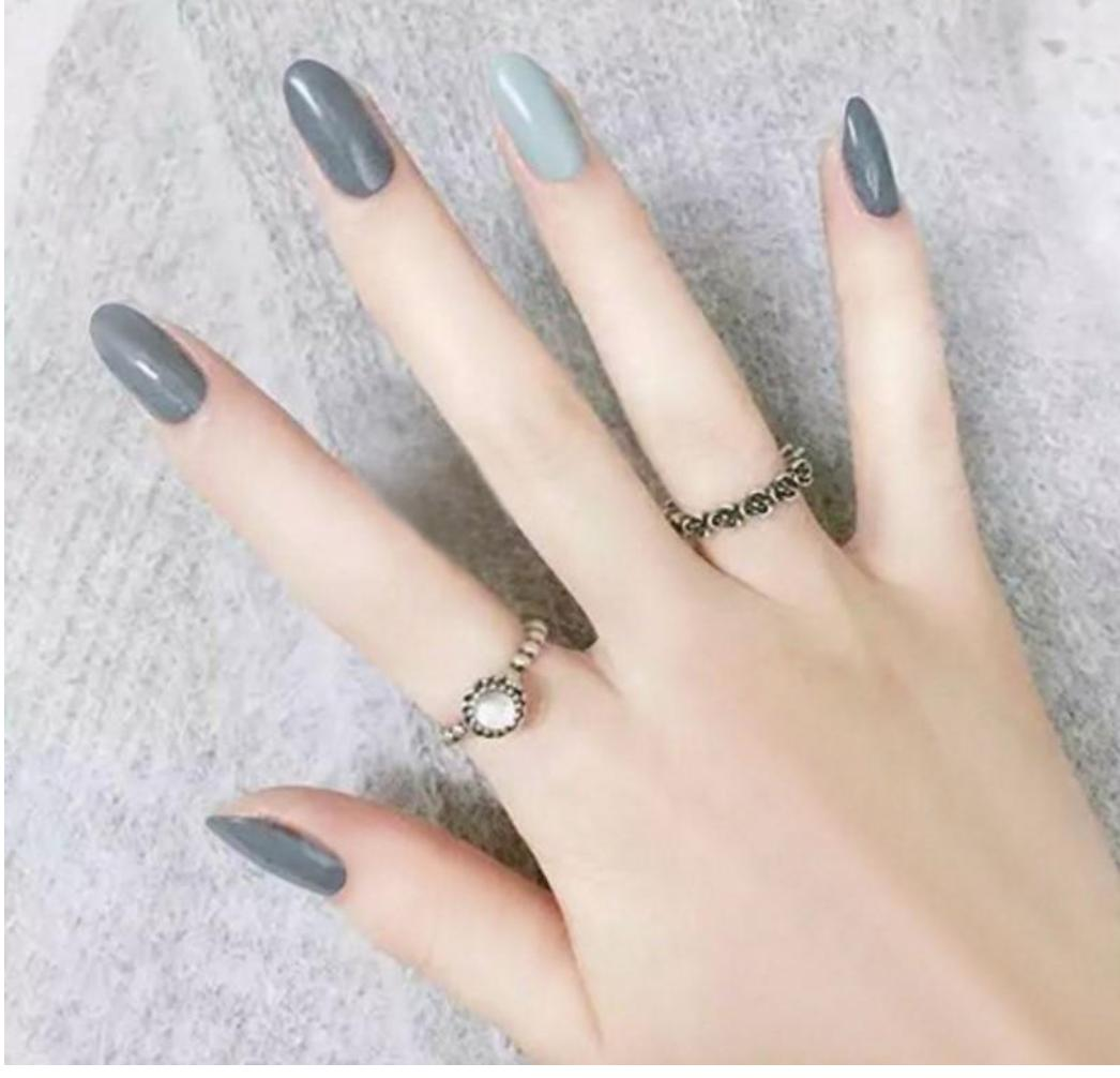 Nude blue Fake Faux Nails Philippines