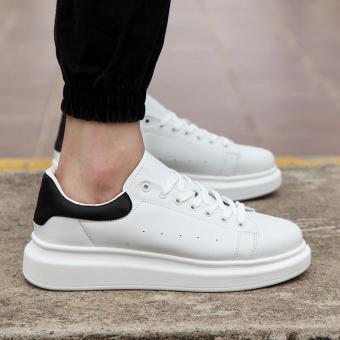 Pelacakan Harga 2018 model baru musim gugur Gaya Korea Tren sepatu pria  penambah tinggi sepatu putih kecil Pria casual sepatu trendi netral putih  sepatu ... f6ce97fffb