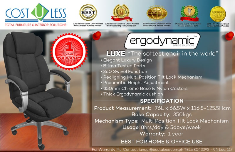 Stay Comfortable And Be More Productive With A Chair That Supports You All  Day  TheErgodynamic Office Chair.