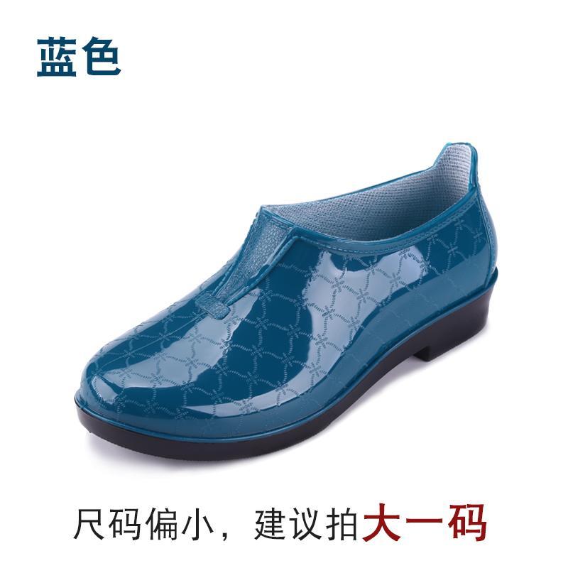 Warrior Tambah beludru sepatu boots hujan wanita dewasa Pendek rendah Sepatu karet wanita Sepatu anti air