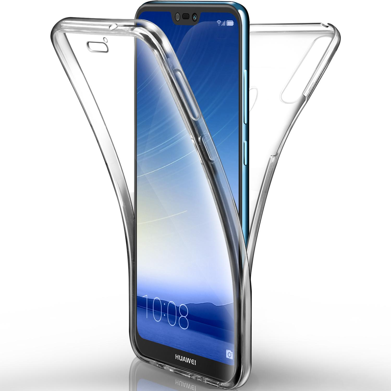 PHP 239. Rymall For Huawei P20 Lite Case Full Coverage Front and Back Case Shockproof Casing TPU Soft Silicone Clear Cover ...