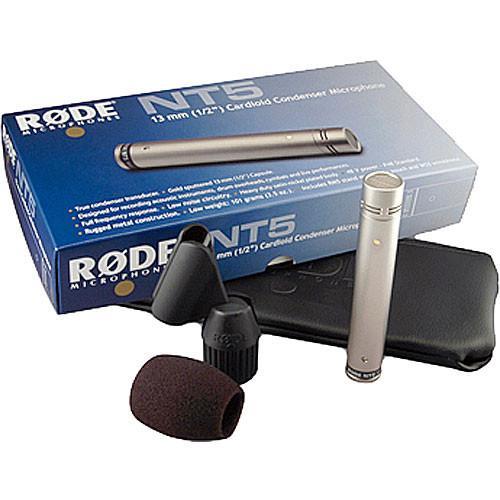Rode NT5 Cardioid Studio Condenser Microphones (Single Microphone)