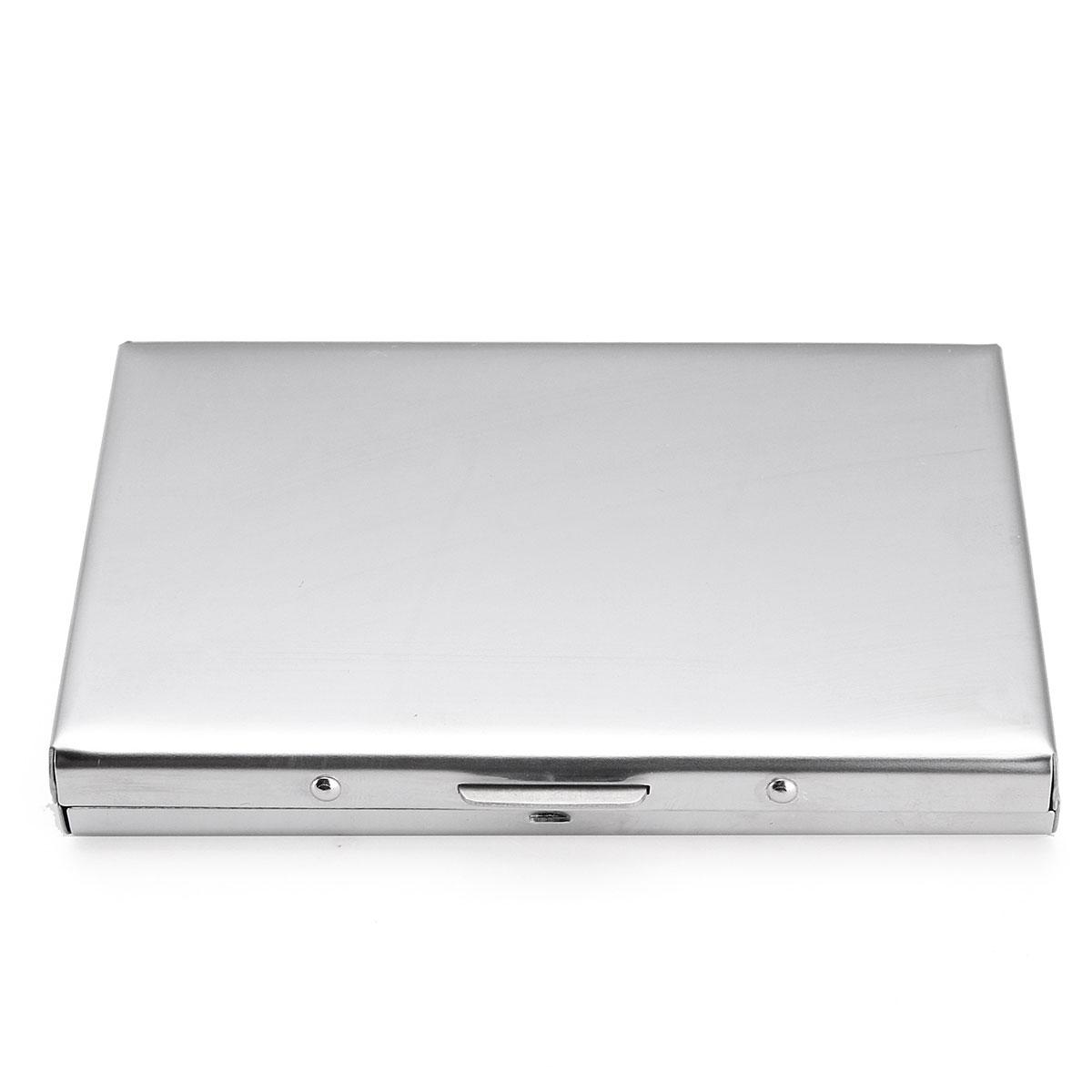 Business Id Credit Card Wallet Holder Aluminum Metal Pocket Case Box Walet Black Soap Original Diamond Image