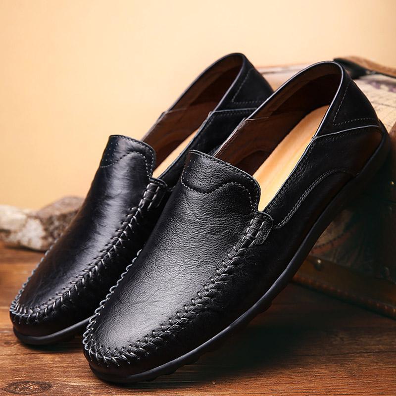 Sepatu Kulit Katun Pria Paruh Baya Menghangatkan Kulit Asli Alas ... 886641713e