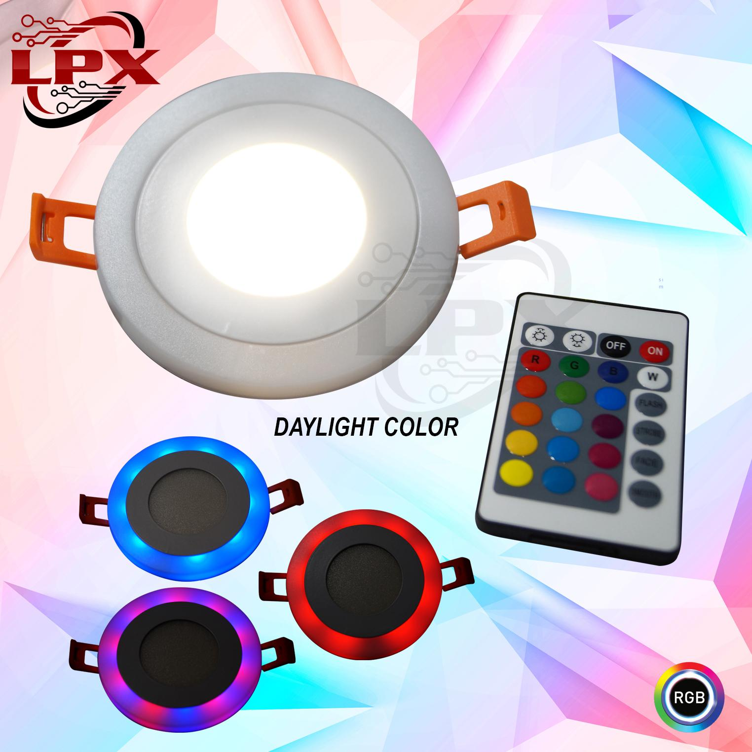 Double Light Led 5w Rgb Pinlight Modern Ceiling Down Round With Remote Daylight White