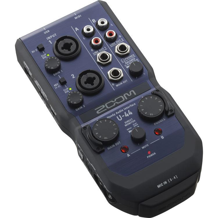 Zoom U-44 Handy 4-In/4-Out Audio Interface – JuanGadget