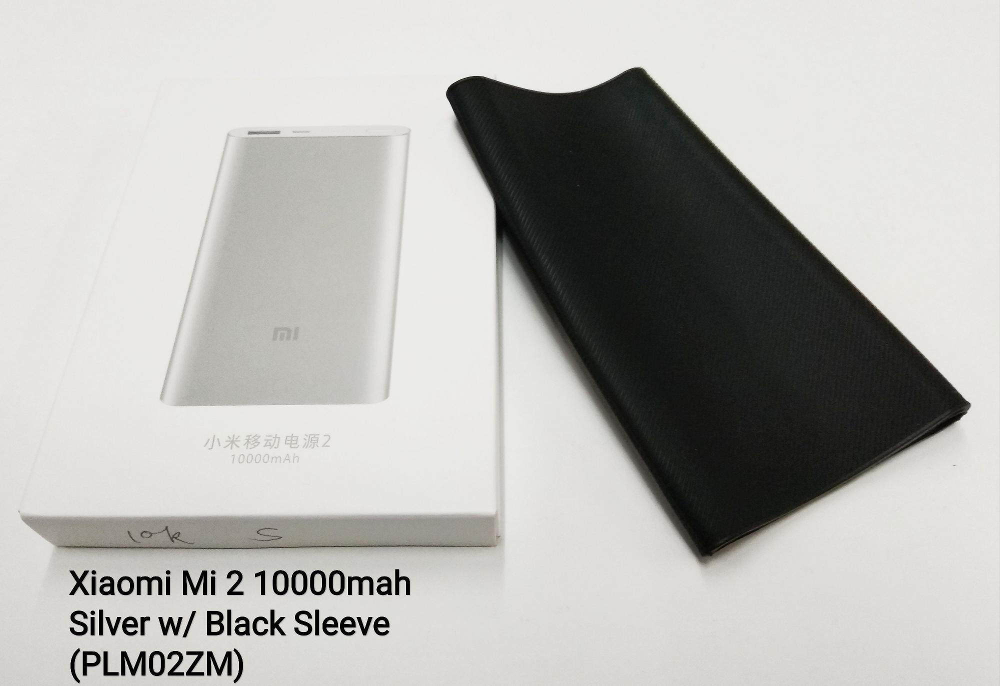 Philippines Bestsellers Xiaomi Plm02zm 10000mah Mi Powerbank Black 2 Slim Free Sleeve