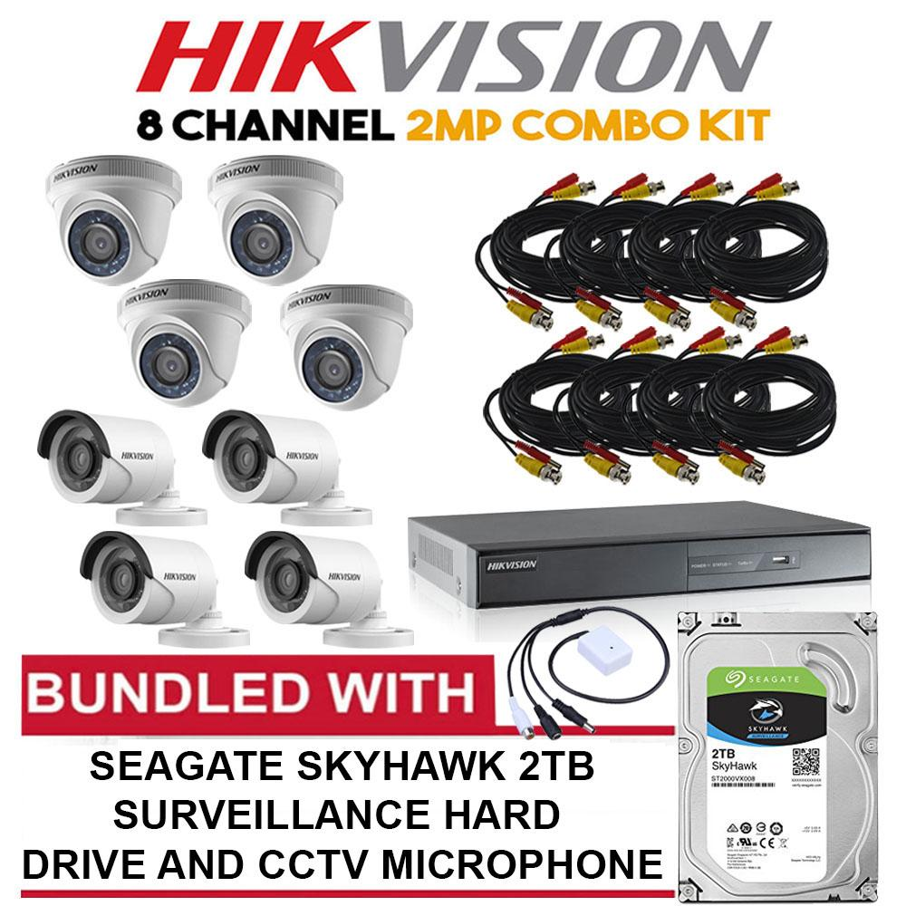 Hikvision 8 Channel 2mp Turbo Surveillance Kit With Seagate Skyhawk Hardisk Cctv 1tb 2tb Hard Drive And Microphone Philippines