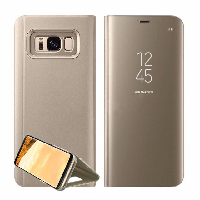 Smart Clear View Mirror Flip Case For Samsung Galaxy Note 8