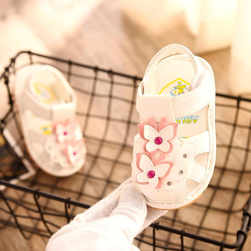 2018 Musim Panas Model Baru Bayi Perempuan Sandal Summer 1 Tahun Sepatu Anak Perempuan Pijakan Empuk