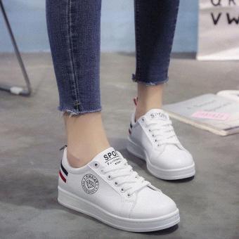 Pencarian Termurah Sol datar model baru Gaya Korea Olah Raga sepatu wanita  netral Sepatu putih sepatu 16eed25c23