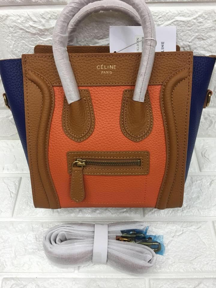 e653961eb2 Celine Paris Authentic Nano Size Luggage Tote Bag (Orange