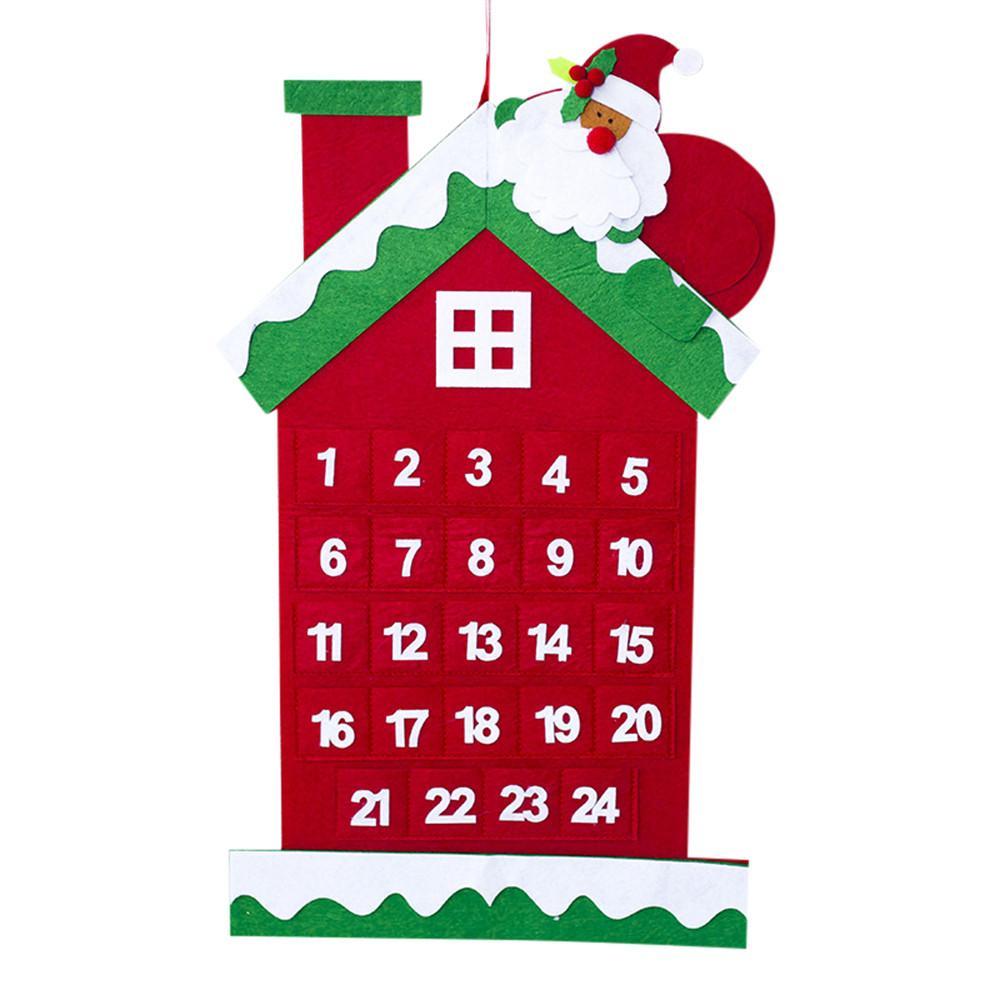 【Free Shipping】christmas Dekorasi Santa Claus Kalender Lobi Hotel Keluarga Liontin