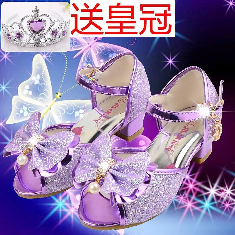 Anak Prempuan Sandal Summer 2019 Model Baru Sepatu Putri Anak-Anak Tumit Tinggi Sandal Summer Sepatu Berlian Berkilau Catwalk Tarian Anak Perempuan Sepatu Siswa By Koleksi Taobao.