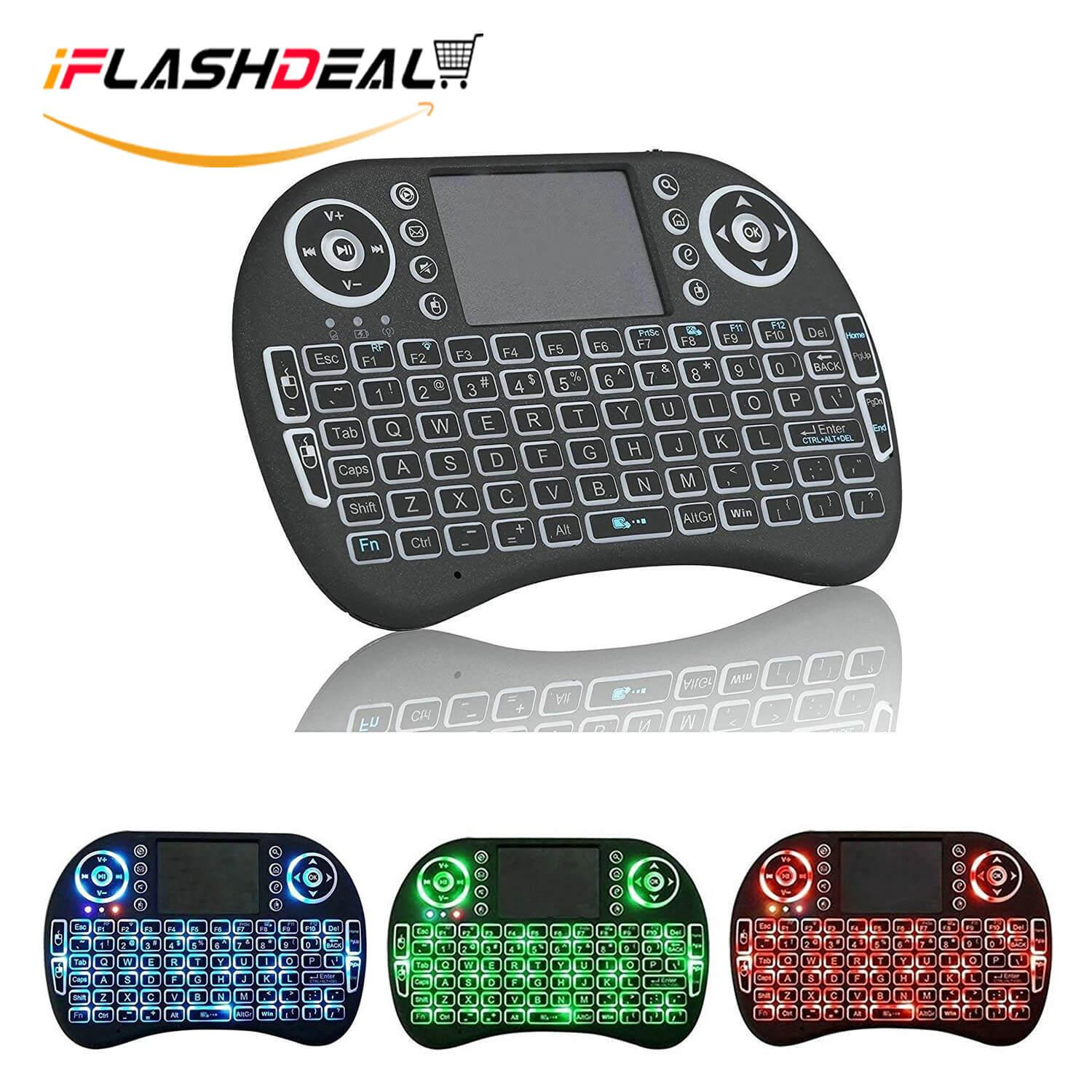 iFlashDeal Mini 2.4 GHz Wireless Keyboard Backlit illuminated Wireless Mouse Combo with Touchpad LED Remote Rechargeable Li-Ion Battery, for PC Windows XP Vista 7 8 10 Malaysia