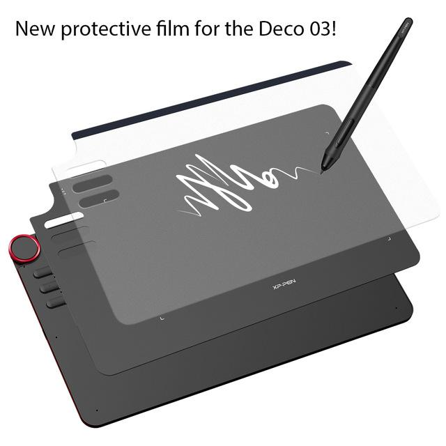 XP-Pen transparent painting copy film protective film for DECO03 graphics  drawing tablet (Two)