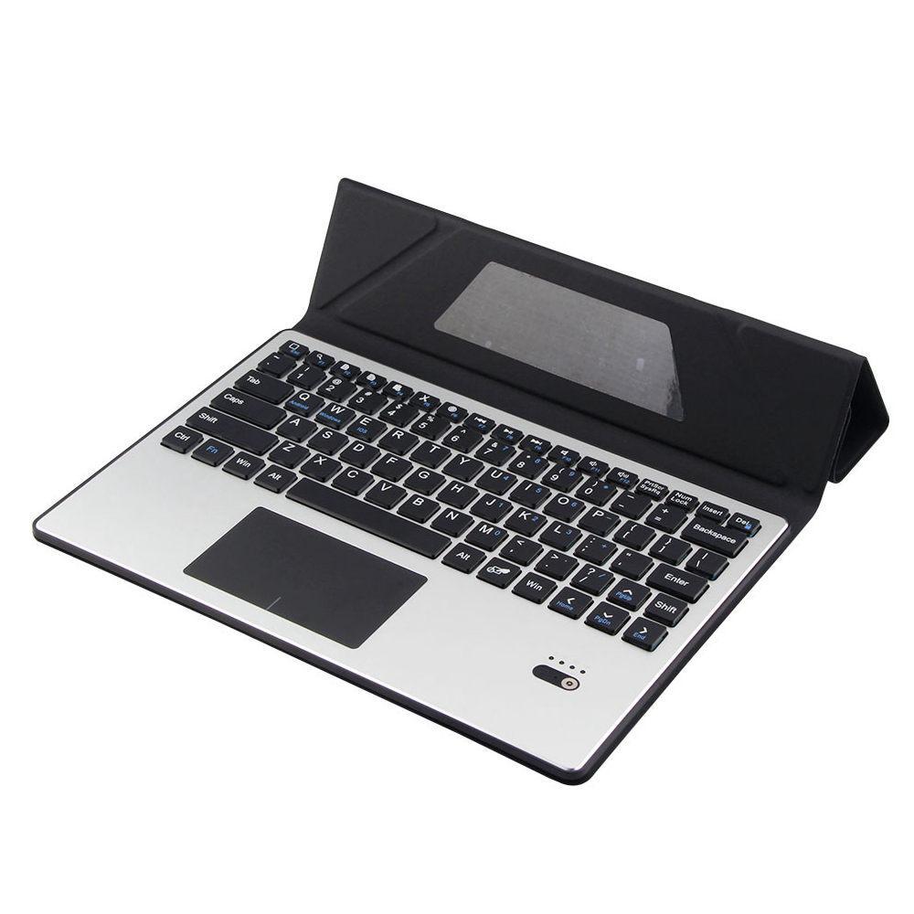 Untuk ASUS Zenpad 10 Z300 Z300C Z300CL Z300CG Removable Blutooth Touchpad Rusia / Ibrani Keyboard + Slim PU Kulit Kasus Berdiri Cove