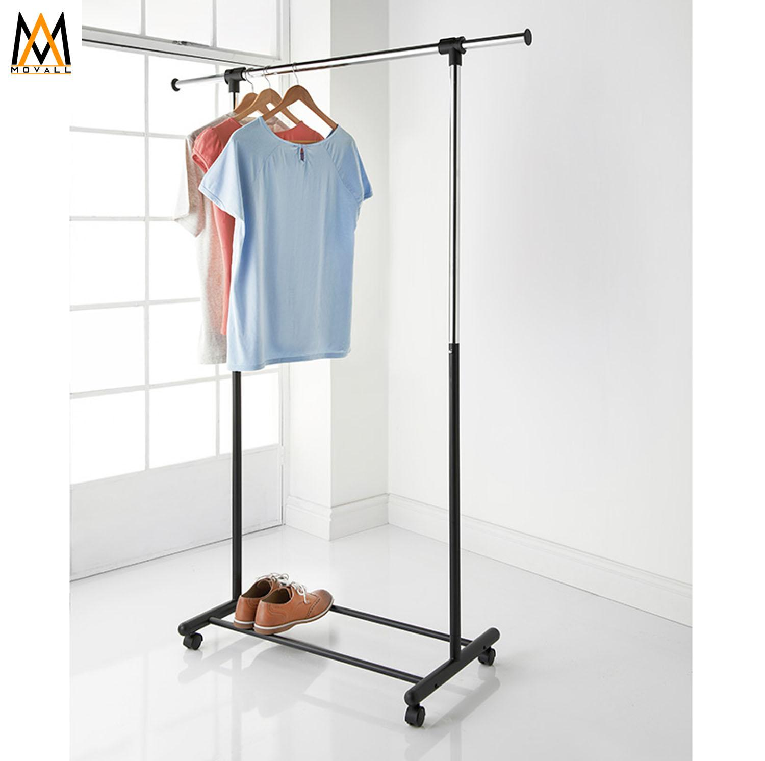 Clothes Rack Adjustable Telescopic Single Pole