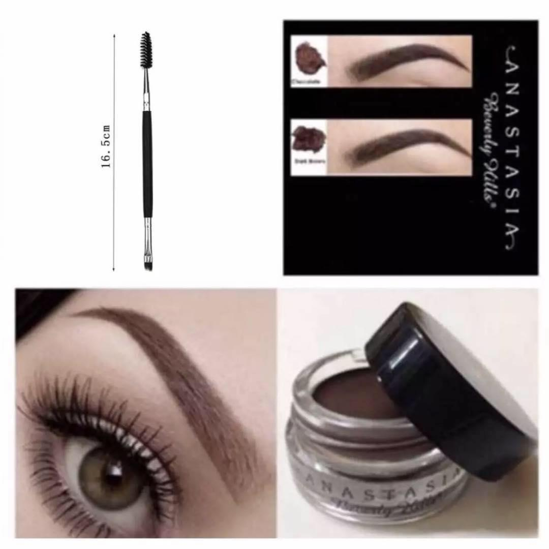 Anastasia Beverly Hills Dipbrow Pomade ( MEDIUM BROWN) with free anastasia eyebrow Philippines