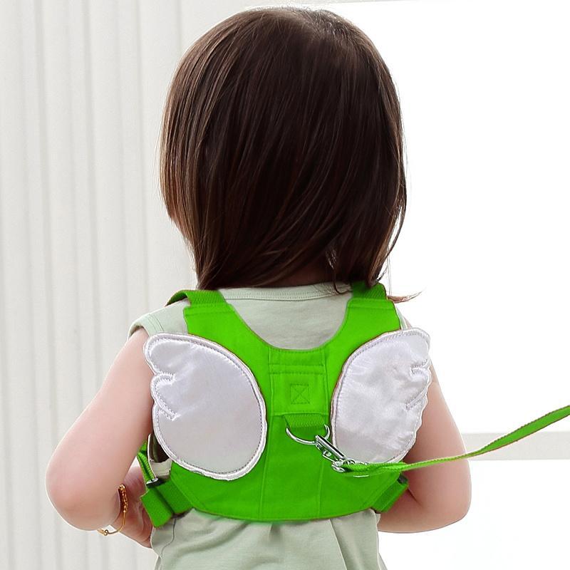 Anti-Lost Baju Rantai Anak Tali dengan Sayap Malaikat, Bayi Berjalan Asisten Harnais Kecil