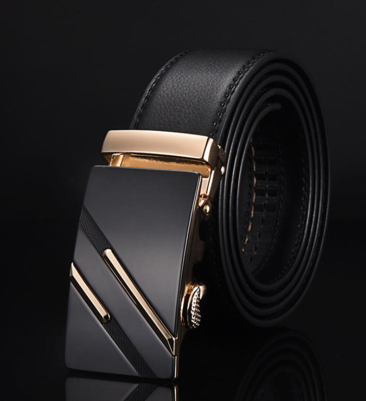 Business Formal Leather Belt Fashion Microfiber Leather Automatic Buckle Men Belt ...