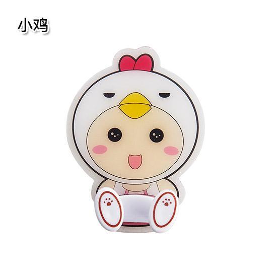 Yousiju Cartoon Viscose Socket Hook Power Supply Plug Adhesive Storage Holder Wall Qanl Nailless Hook