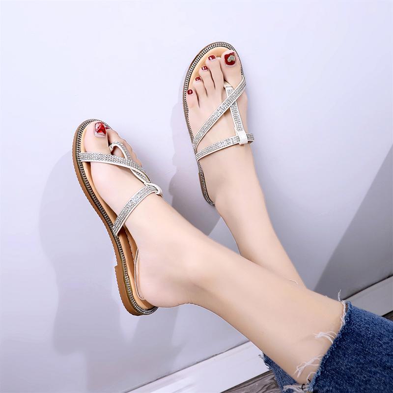 Chic Sendal Wanita Sandal Korea Fashion Style Datar