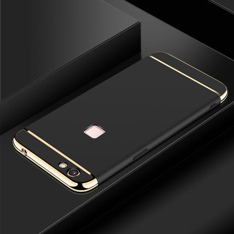 Detail Gambar VIVO V7 Plus Mewah Menyepuh Dgn Listrik Shockproof Kembali Casing Kover untuk VIVO V7Plus Case Keras Rumahan Telepon Terbaru