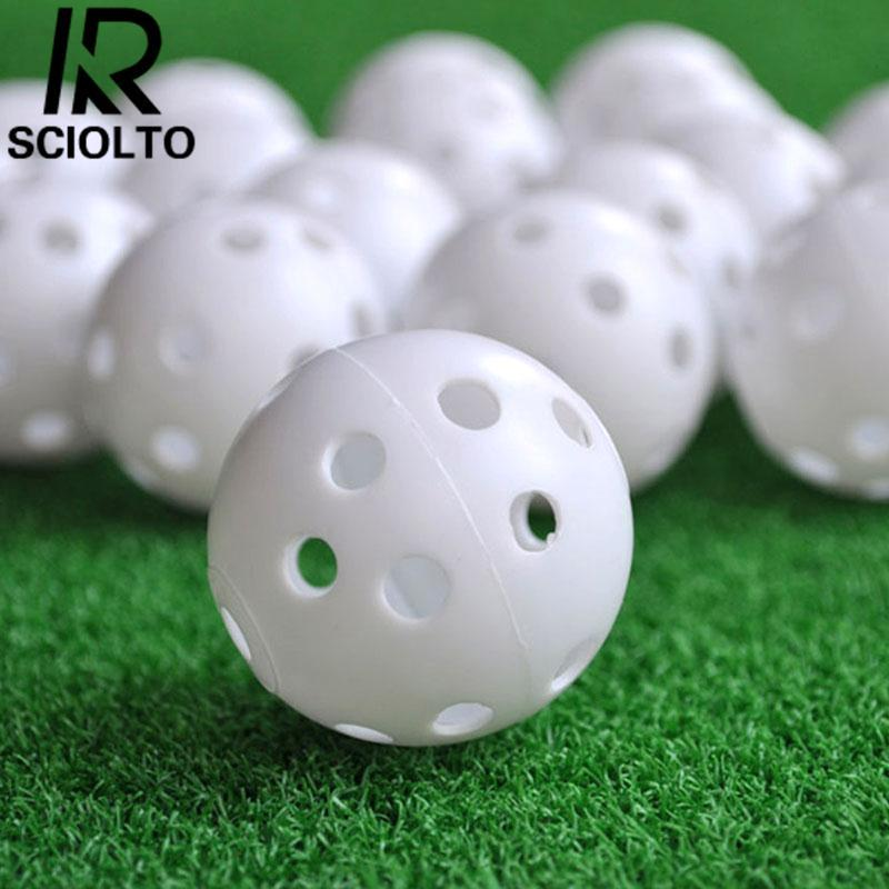 SCIOLTO SPORTS Hollow Plastic Golf Ball Indoor Outdoor Sports Trainer Swing Practicing Training