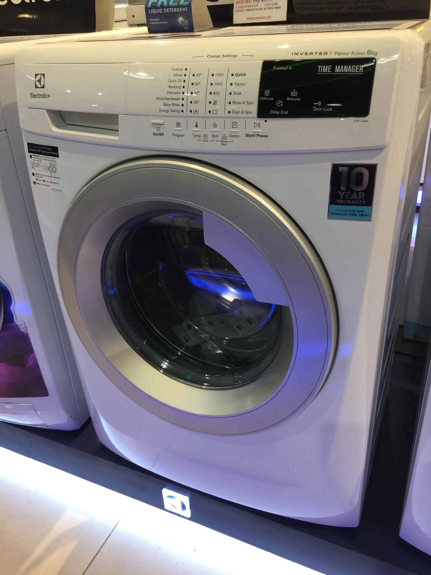 Philippines Best Buy Consumer Appliances Wash Electrolux 02 07 2018 Front Loading Washer Ewf14113 8kg Inverter Frontload