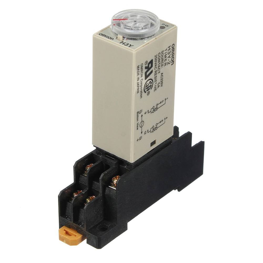 Ac 220v H3y 2 Power On Time Delay Relay Solid State Timer 1030min Two Based Motorcycle Alarm Circuits Image