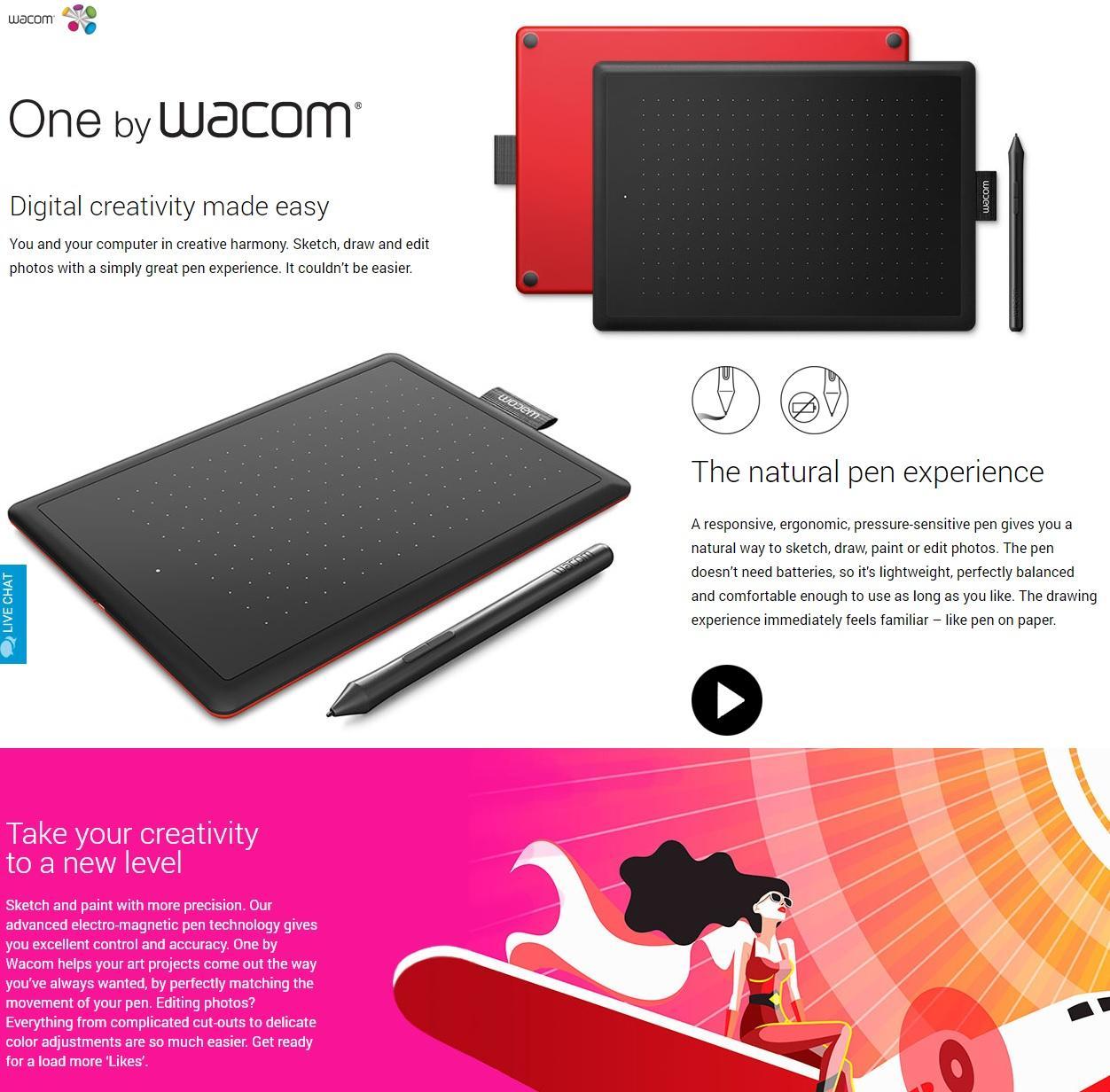 Wacom Creative Pen Tablet CTL-672/K0-CX Medium Graphic