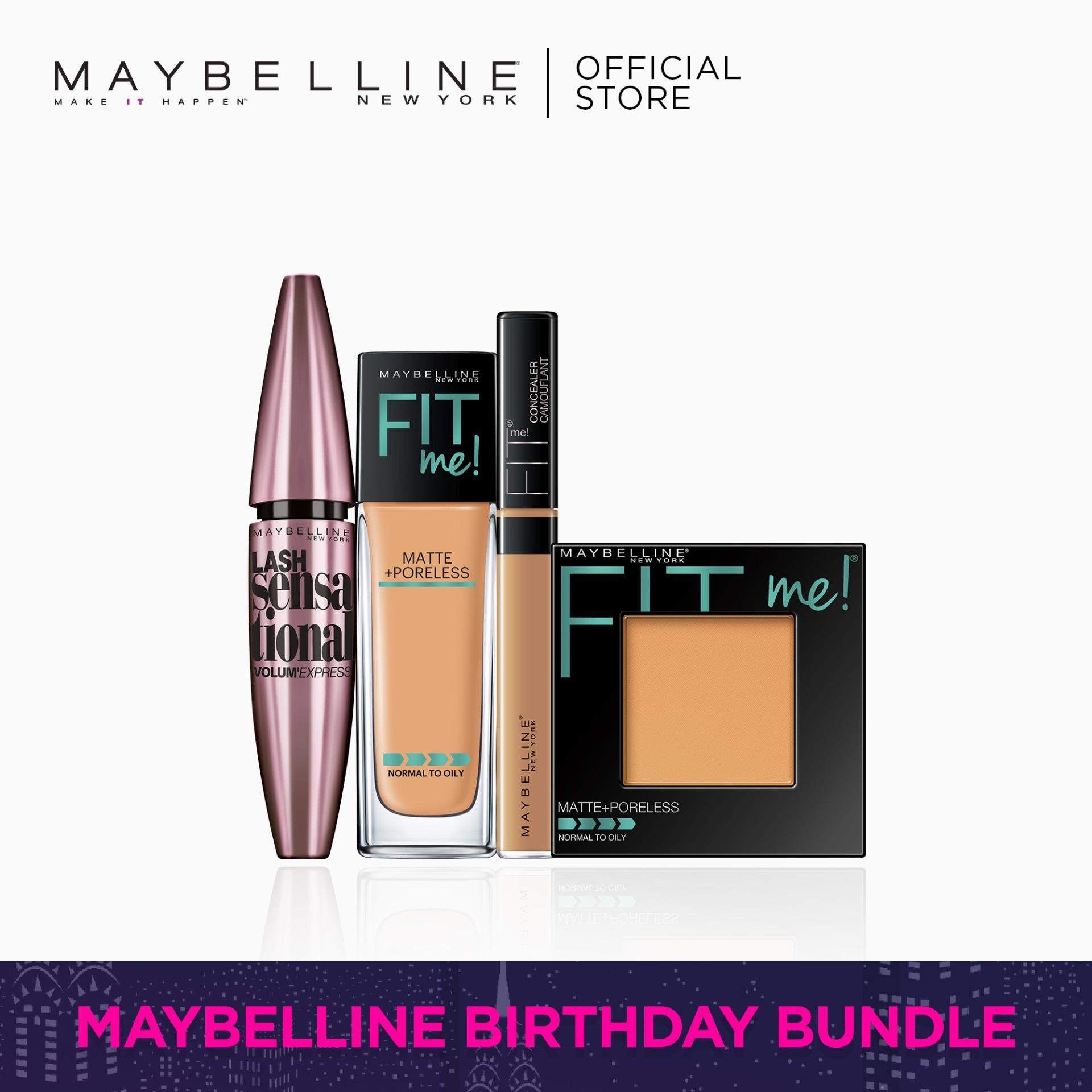 I Found My Fit: 310 Foundation + 310 Powder + 30 Concealer + Lash Sensational by Maybelline Fit Me Philippines