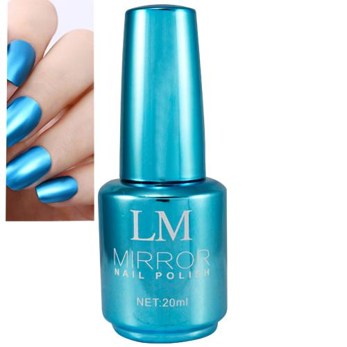 LM Mirror Nail Polish  # 01 (Blue) Make up,Nail Art Philippines