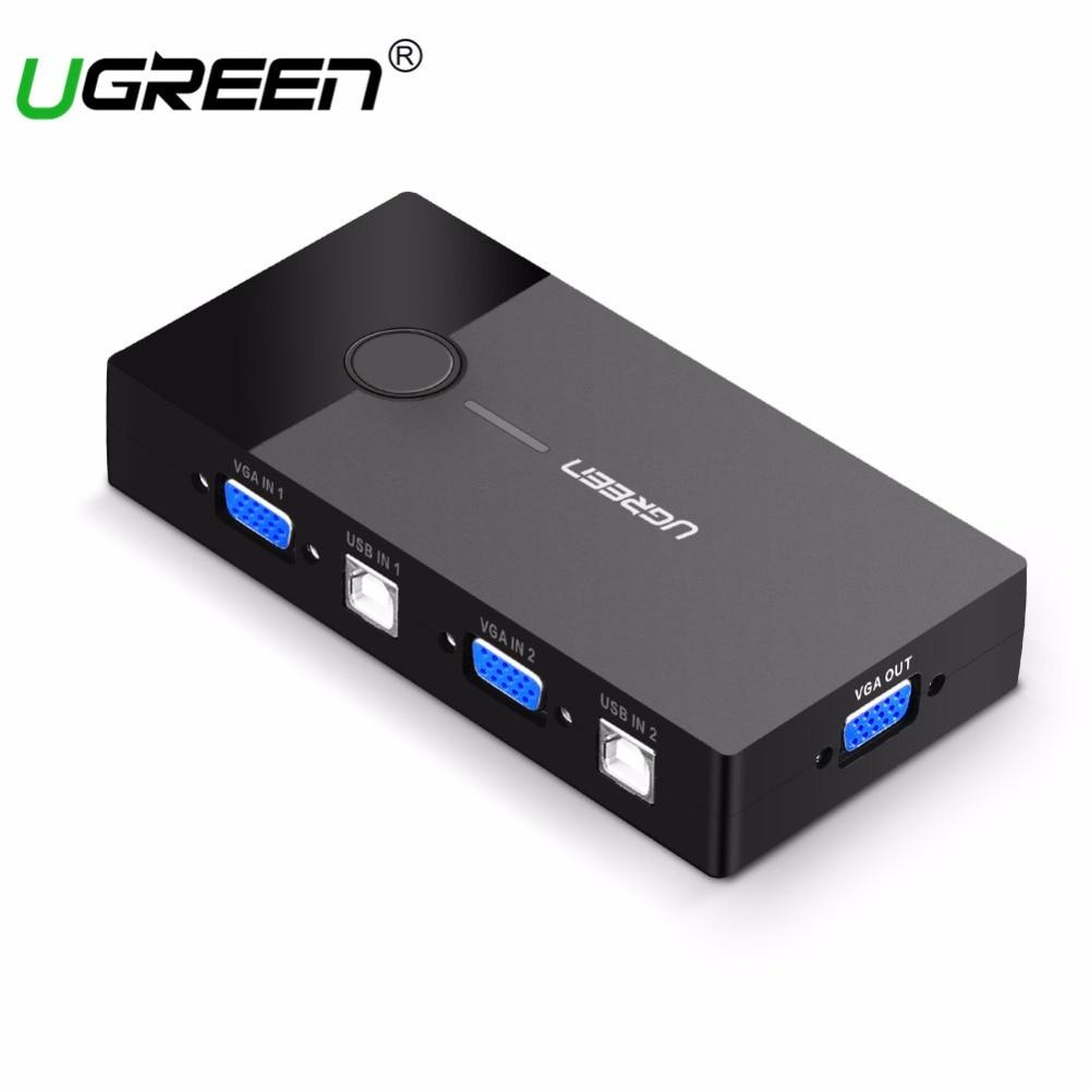Sell Ugreen 2 Vga Cheapest Best Quality Th Store Usb Kvm 4 Ports 3usb Svga Switch Box Adapter Hub Connector Keyboard Mouse Monitor Thb 1064